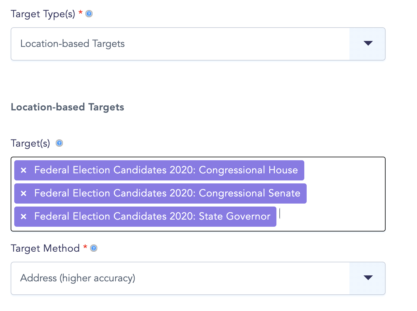 2020 us candidates datasets screenshot