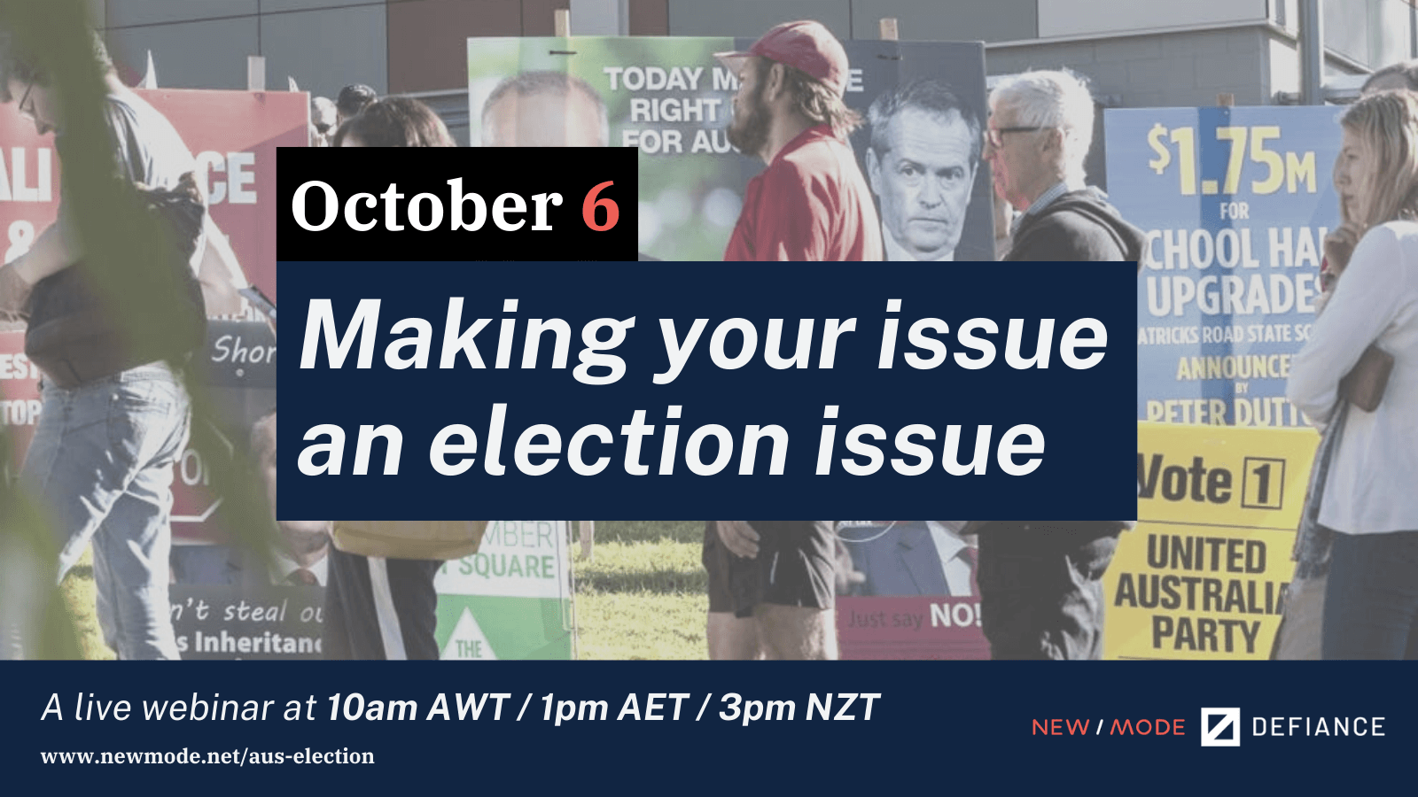 Aus Election Make your issue an election issue webinar