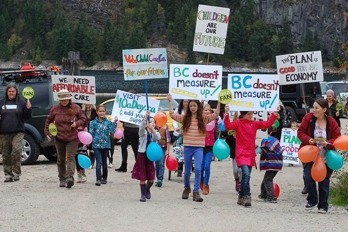 Child-Care-Protest