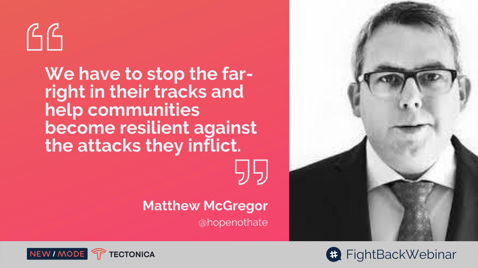 Fighting the Far-Right Live Tweet Matthew