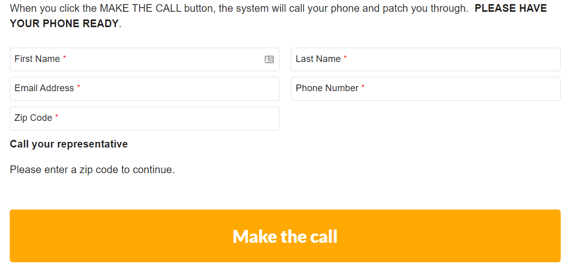 call tool form and button
