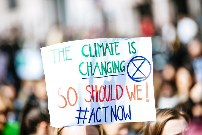 climate is changing #actnow sign