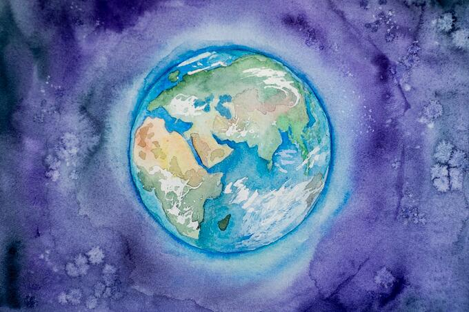 earth watercolour