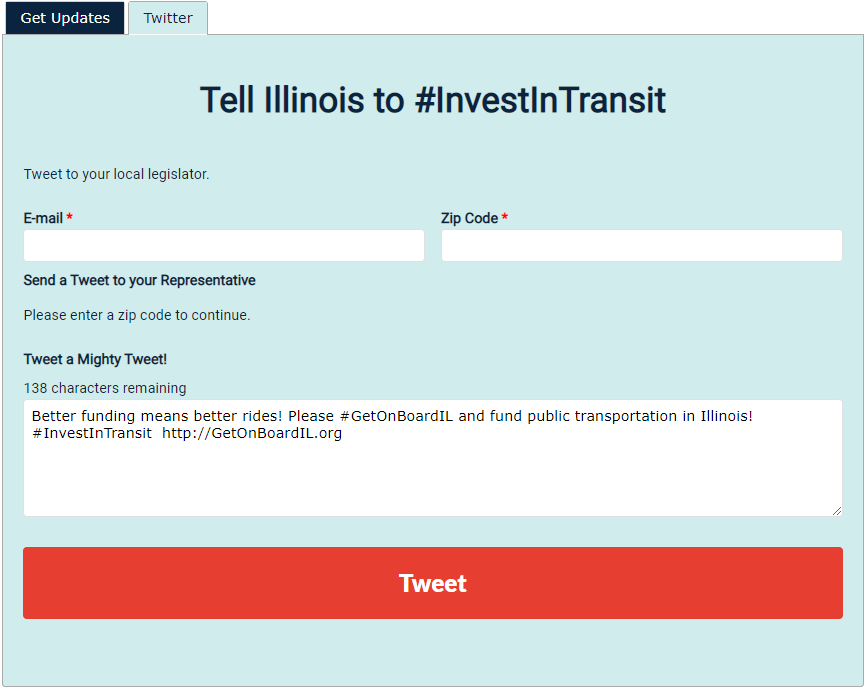 investintransit tweet action