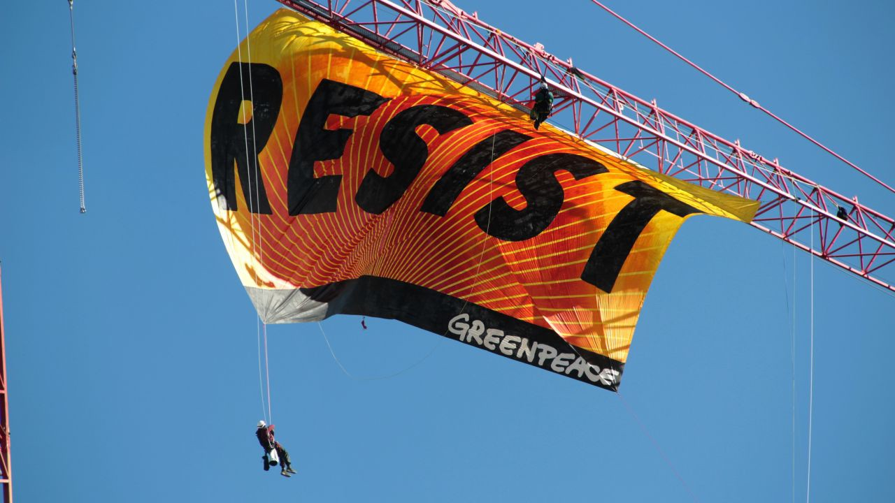 RESIST Banner Drop